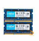 Lot Crucial 16GB 8GB 4GB PC3L-12800S DDR3-1600Mhz 1.35V SODIMM Laptop Memory RAM