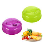 1/2pcs Microwave Oven Plate Topper Cover Food Dish Dustproof Lid Fresh Cover UK