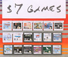 Nintendo DS & 3DS Games Authentic / Cleaned / Tested $5-40 Each Good Labels