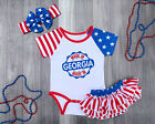 Made In Georgia Outfit Bodysuit Shirt Headband Bloomers Set