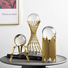 Luxury Modern Artisticgolden Metal Base Crystal Ball Home Hotel Decor Furnishing