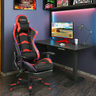 NEW Massage LED Gaming Chair Reclining Racing Chair w/Lumbar Support & Footrest