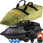 VERY100 500M Wireless Angling Bait Boat 3 Hoppers ,GPS Fishfinder,Bag,Batteries