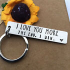 I Love You More Most The End I Win Couples Novelty Keyring Steel Gift Keychain