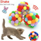 Soft Kitten Cat Toy Plush Ball Pet Dog Toys Balls Interactive Assorted Colourful