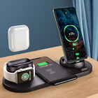 US 4In1 Qi Wireless Charger Dock Stand For iWatch SE/6/5/4/3/2 iPhone 12 Pro Max