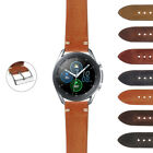 StrapsCo Hand-Stitched Vintage Washed Leather Strap for Samsung Galaxy Watch 3