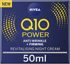 NIVEA Q10 Power Anti-Wrinkle Firming Night Cream Anti Ageing Moisturiser (50ml)