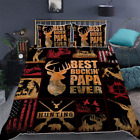 Hunting Papa Quilt Bedding Set Covers Best Gift