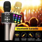 LOSKII Wireless 4 in 1 bluetooth Karaoke Microphone Speaker LED Lights