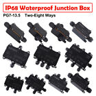 IP68 6 Way Trailer Plug with Junction Box Connector Cable Wiring Harness Kit new