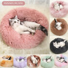 Donut Macaron Cat Bed Faux Plush Dog Pet Beds For Medium Small Cozy Round uk l