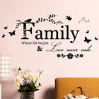 Art Diy Room Removable Home Decor Wall Stickers Decals Family Vinyl Quotes Mu^h4