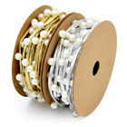 Faux Leather Rope Inlaid Beads Christmas Decorative Belt Gift Headdress Material