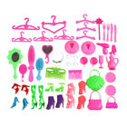 Doll Accs Mixed Style Bag Shoes Comb Hanger Tableware Jewelry For Girl Toy