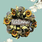 Sunflower Wreath 18 Inches Decorative Wreath for Wall Front Door Farmhouse