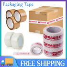 Packing Tape Buff Brown Clear Packaging Parcel Strong 48mm x 66m Fragile UK
