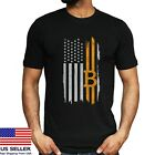 Bitcoin American Flag Patriotic Cryptocurrency Hodl Gift T-Shirt Cotton Unisex