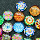 50Pcs Mixed Colorful Round Mosaic Tiles DIY Materials Art Crafts Jewelry Making