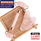 Rose Quartz Jade Roller & Gua Sha Face Body Facial Therapy Massager Stone Beauty