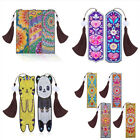1pc DIY diamond painted leather bookmark with tassel book logo special s UUMW