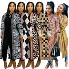 Hot Sale Fashion Women's Printed Long Sleeves Casual Cardigan Coat Outerwear