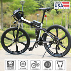 26Inch Folding Electric Bike Mountain Bicycle Adult Ebike Shimano 21-Speed Bike@
