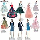Fashion Doll Clothes Set For 11.5' Doll Dress Outfits Gown Shirt Skirt Coat 1/6