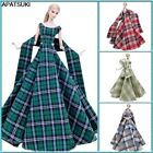 Plaid High Fashion Wedding Dress for 11.5' 1/6 Doll Outfits Clothes Gown 1/6 Toy