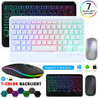 For Ipad Android Windows Tablet 10inch Wireless Bluetooth Backlit Keyboard&mouse