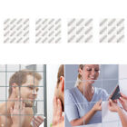 Diy Tile Square Mirror Sticker Wall Mosaic Decal Home Decor 16 Pieces