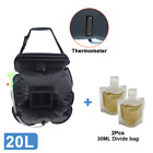ACM Camping Shower Portable Sun Heating Bag Solar Water Heater Outdoor 20L NEW
