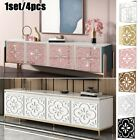 4pcs Mirror Tiles Wall Stickers Decor Stick On Art Home Decal Ornament Pack