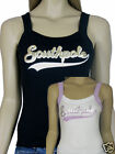 Southpole Ladies Strap top in BlackGold or WhiteLilac