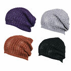 LADIES RETRO KNITTED SLOUCH BAGGY OVERSIZE BEANIE HAT