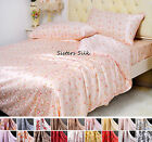 5 PCS 16MM 100% SILK DUVET COVER DEEP FITTED FLAT SHEETS PILLOWCASE SET ALL SIZE