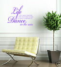 """DANCE IN THE RAIN""LARGE wall decal sticker wall quote"