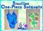 Brazilian One Piece Swimsuits in Blue & Green S,M,L NWT