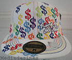 NEW KING FITTED HIP HOP WHITE DOLLAR BASEBALL HATS CAPS