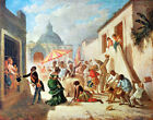 641.Cuban Painting Print.El DIA DE REYES.House home ritual art Interior Design