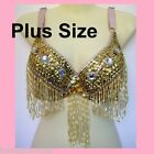 PLUS SIZE Belly Dance Bra Top Samba Dancing Costume AR01 XL