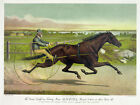 3292 Vintage Poster.Powerful Graphic Design.California Sunol Horse racing Decor