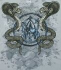 Smith & Wesson T-Shirt Metallic Cobra Snakes Silver NEW