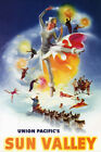 SUN VALLEY IDAHO WINTER FAIRY SKI ICE SKATING DOGSLED BATH VINTAGE POSTER REPRO