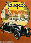 FRENCH OLD PEUGEOT LUXURY CAR  AUTOMOBILE FRANCE VINTAGE POSTER REPRO
