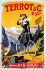 BICYCLE CYCLES MOTOCYCLES TERROT DIJON MOUNTAIN BIKE FRENCH VINTAGE POSTER REPRO