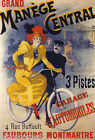 GRAND MANEGE CENTRAL BICYCLE RIDING SCHOOL RIDE BIKE FRENCH VINTAGE POSTER REPRO