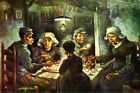 1885 THE POTATO EATERS BY VAN GOGH REPRO CANVAS / PAPER