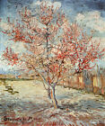PEACH TREE IN BLOOM AT ARLES IMPRESSIONISM PAINTING BY VINCENT VAN GOGH REPRO
