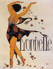 DANCE LYONNELLE EXOTIC DANCER FASHION FLOWERS FRENCH VINTAGE POSTER REPRO